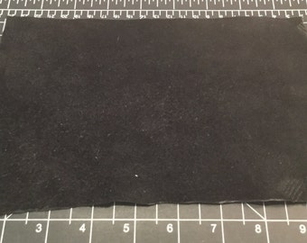 BLACK Cow Hide Leather Piece #1