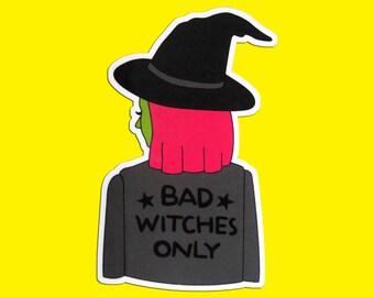 bad witch vinyl sticker