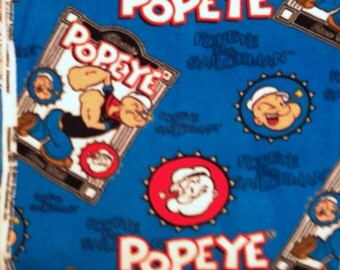 Popeye Fleece No-Sew Blanket