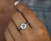 Dove Jewelry, Bird Jewelry, Tiny Bird Dove Ring, Sterling Silver Bird Dove Jewelry, Tiny Dove Ring, Bird Ring Sizes 4 5 6 7 8 9 10 11 12 13