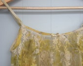 eco dyed lace camisole top altered couture