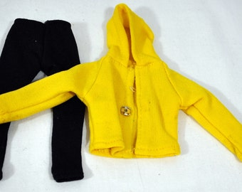 Super G.I. Joe Outfit - Yellow Hoodie and Black Pants