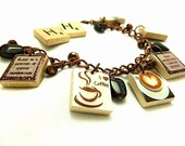 Coffee Repurposed Scrabble Tile Bracelet