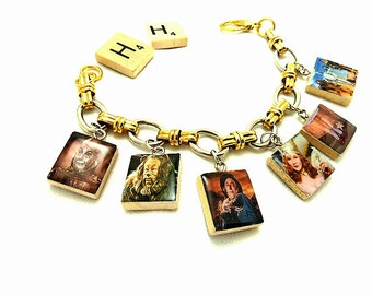 Wizard Of OZ Repurposed Scrabble Tile Bracelet