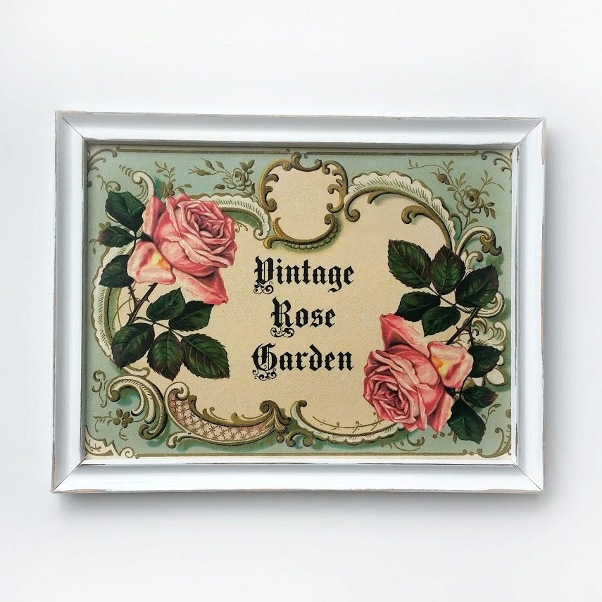 shabby wall art cottage chic framed print wall art vintage