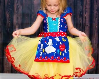 SNOW WHITE  dress costume dress girls princess  costume dress TUTU dress style princess costume