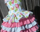 ON SALE Ready to Ship Custom Tanya Whelan Ruffled Dress Easter Girl Size 4 5