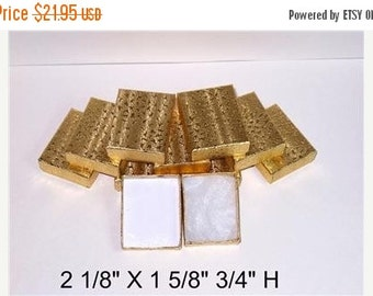 Summer Stock Up Sale 100 Pack of 21 Size Gold Foil Cotton Filled Jewelry Presentation Boxes