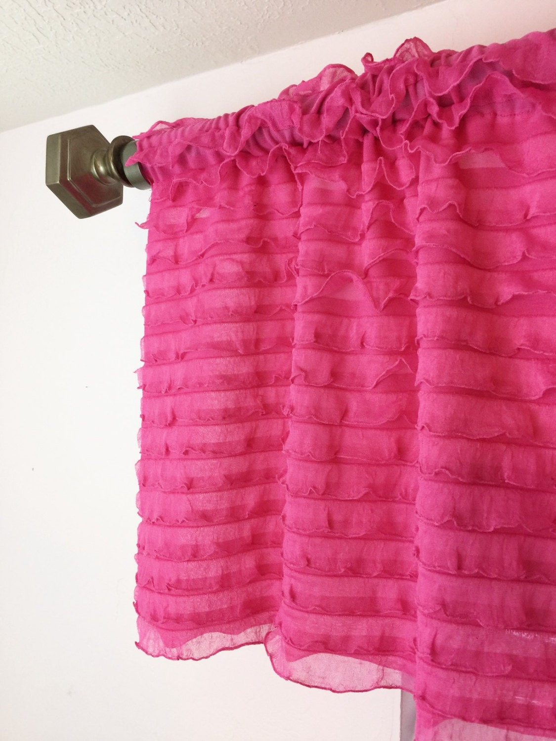 Thermal Curtain Liner Panels Pink Ruffle Sheer Curtains