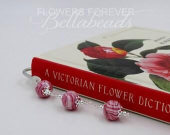 Memorial Jewelry, Flower Petal Jewelry, Memorial Gift Bookmark, Remembrance Jewelry, In Memory of, Bellabeads Bookmark
