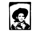Photobooth Cowboy - Unmounted Rubber Stamp (D2668)