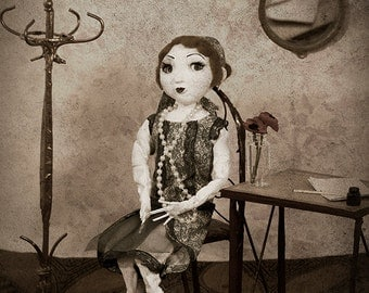 Gwenda the Flapper Girl ooak handmade art doll collectable historical costume character