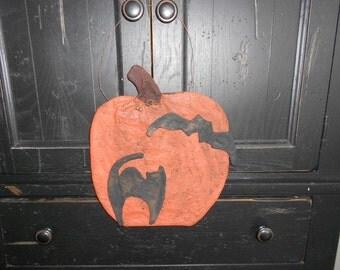 Primitive Halloween Pumpkin Door Greeter