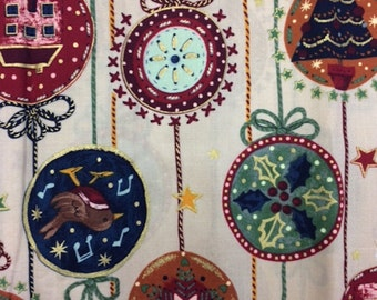 Concord Christmas Ornaments Cotton Quilting Fabric