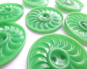 7 Green Fancy Buttons