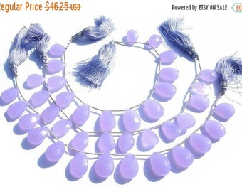 55% OFF SALE Lavender Chalcedony Faceted Pear Briolettes 7 inches 13 PCS 18x11 - 15x11mm fine quality wholesale price