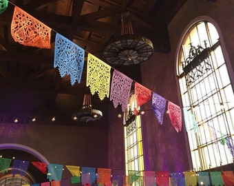 CORELLI fine papel picado - custom color garlands - fiesta wedding
