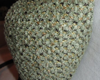 Renaissance Padded Grey Green Chenille Woven Look Codpiece with Ties