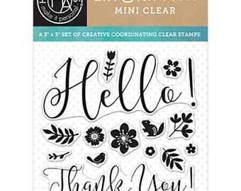 Hero Arts Spring Hello by Lia Clear Stamp Set, Planner, Scrapbooking, craft, Card Making, Stamping