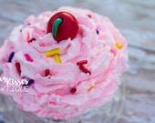 Cupcake frosting headband