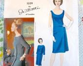 Vintage 1960s Jo Mattli Dress and Overblouse Pattern - Vogue 1329