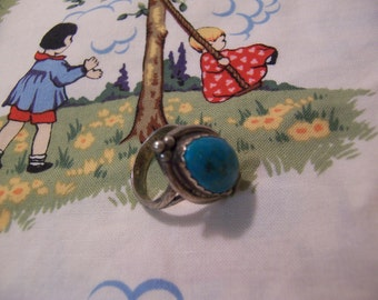 lovely silver and turquoise ring
