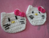 Crochet Hello Kitty Appliques set of two
