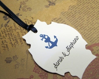 Anchor tags - Wedding tags - Personalized Tags -  Set of 20 -  Hang Tags