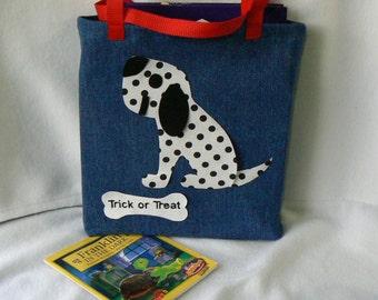 Dalmatian Dog Tote Bag|Child's Personalized Tote Bag|Daycare Bag|Toddler Bag|Christmas Gift Bag|Children's Library Book Bag|Preschool Bag