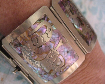 Mexico silver bracelet Alpaca bracelet