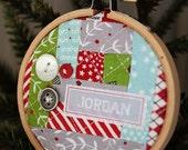 Christmas Hoop Place Card/Ornament Kit