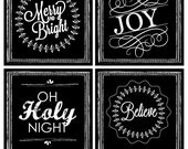 Printed Canvas Ornaments