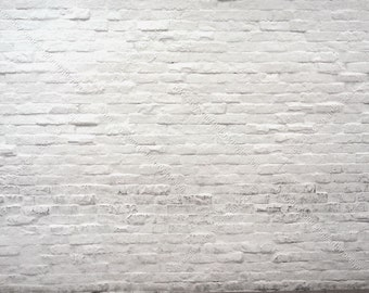 White Brick Digital Download Stock Photo, Distressed White Painted Brick Wall, Background Mock Up Photo Download, Texture Style Photography