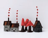 Houses miniature ornament Miniature sweet Felt decoration ornament Housewarming gift for everyone Sweet Dreams Home