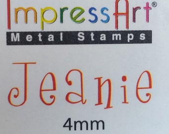 Jeanie, 4mm Number Stamping Set, Metal Stamping Jewelry Design Works, SC1111A-4mm, Carbon Steel Stamp Set