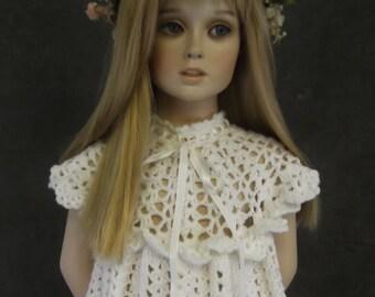 Clothing,Children,Girls,Dresses,White,Crochet,Toddler,Maxi,Dressy,Spring/Summer,Party,Flower Girl,