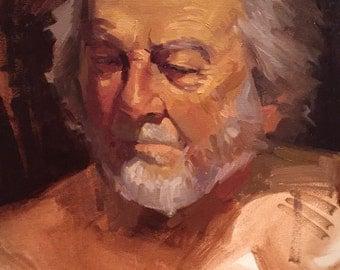 "Art Painting Portrait ""Fond Memory"" Original oil by Sarah Sedwick 12x16"