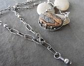 Rio Grande Rustic Sterling Silver Necklace Artisan OOAK Jewelry