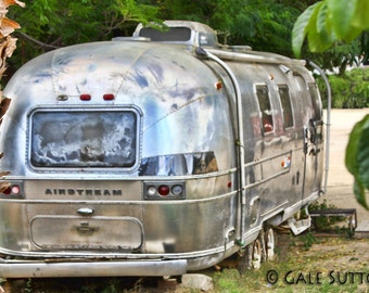 Home is Anywhere - Fine Art Photograph - Airstream Trailer - Airstream Photo - Retro- Vintage - Funky - Silvers - Home - Wall Art