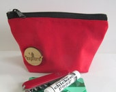 Red Canvas Gear Bag, Explore, Exploring, Camping Pouch, Hiking Gear, Backpacking Gear, Hike, Camp, Backpack, Wanderlust, Pouch for Men, Walk