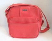 Vintage Samsonite Carry On Bag Over Night Bag Rose Color