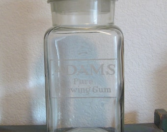 Adams Pure Chewing Gum Advertising Apothecary Jar Counter Display