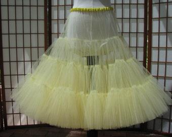 Petticoat Butter Yellow Tulle -- Custom Order