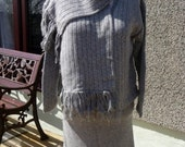 On Sale Knitted Suit, Comprising of Skirt, Jacket and Scarf all matching