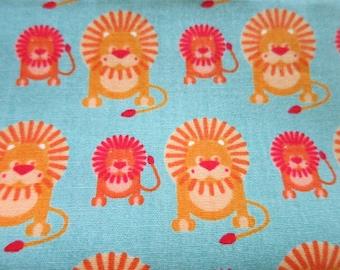 Lovely Lions - Japanese Cotton Fabric - Half Yard