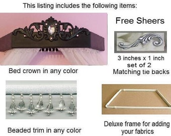 Duchess bed crown with everything
