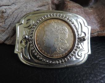 Belt Buckle - 1921 Morgan Dollar Silver