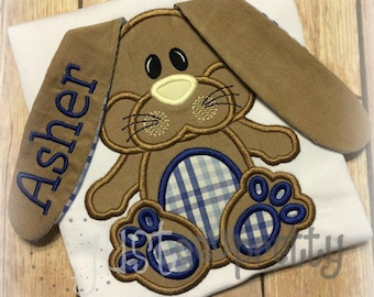 3D Flopsy Bunny Boy Easter Embroidery Applique Design