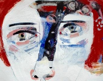 EMERY original painting 'stimulate brain function' outsider aromatherapy expressionism primitive
