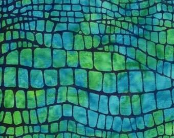 NEW - One fat quarter - Blue and Green Irregular Bricks Batik - SS14G-B3-MO